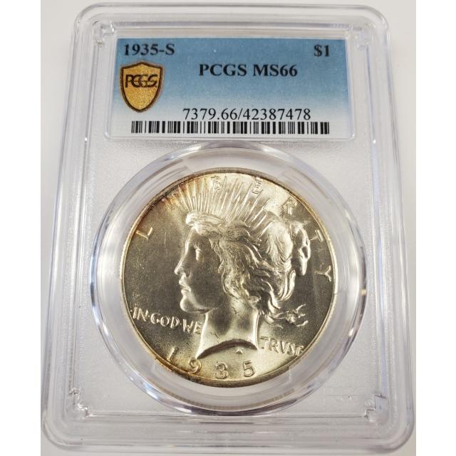 1935-S $1 Peace Dollar PCGS MS66 #3299-20