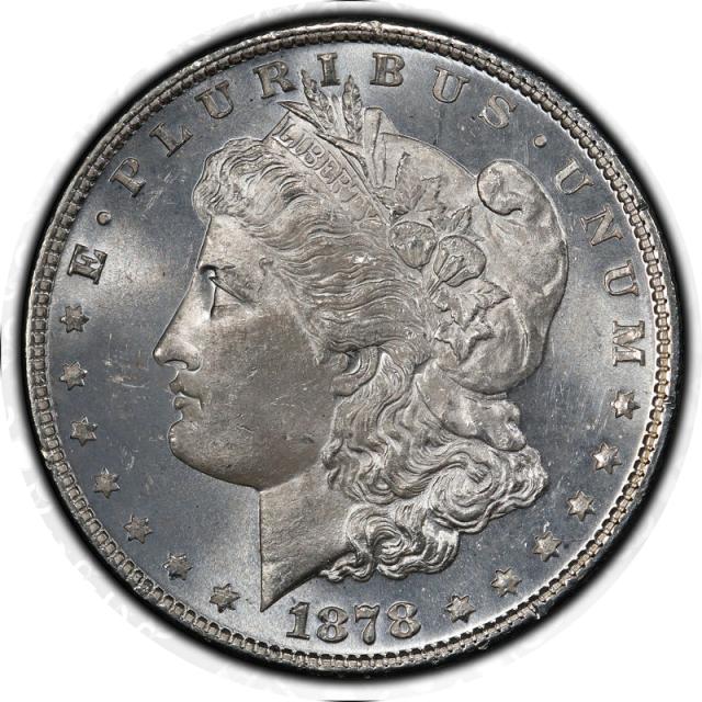 1878 7TF $1 7TF, Reverse of 1878 Morgan Dollar PCGS MS65 #3332-2