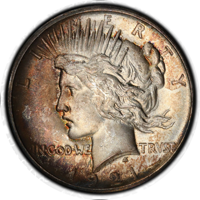 1921 $1 Peace Dollar - Type 1 High Relief PCGS MS65 #3341-2