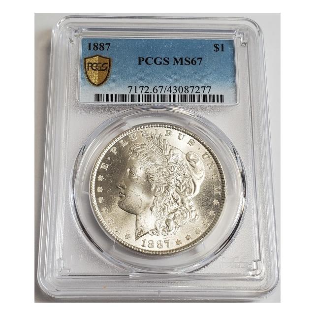 1887 $1 Morgan Dollar PCGS MS67 #3332-37