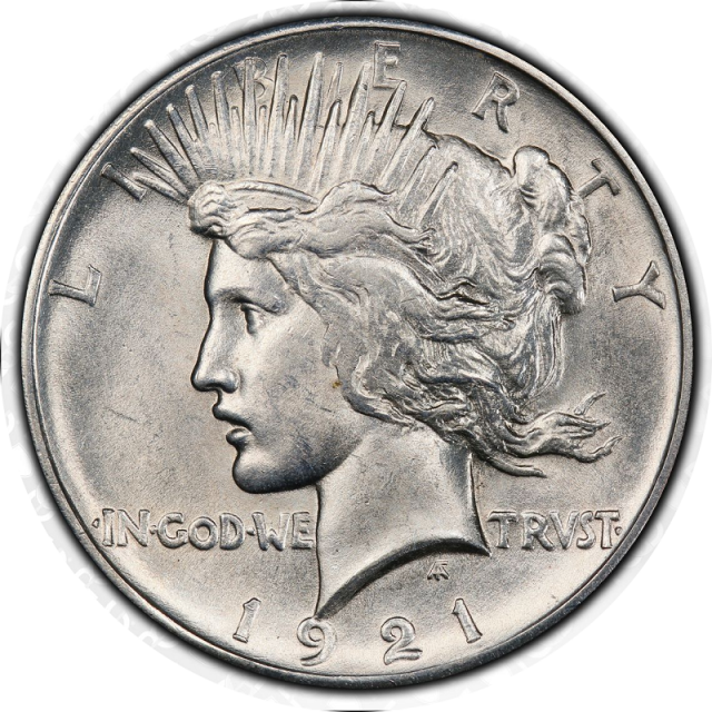 1921 $1 Peace Dollar - Type 1 High Relief PCGS MS61 (CAC) #3296-3