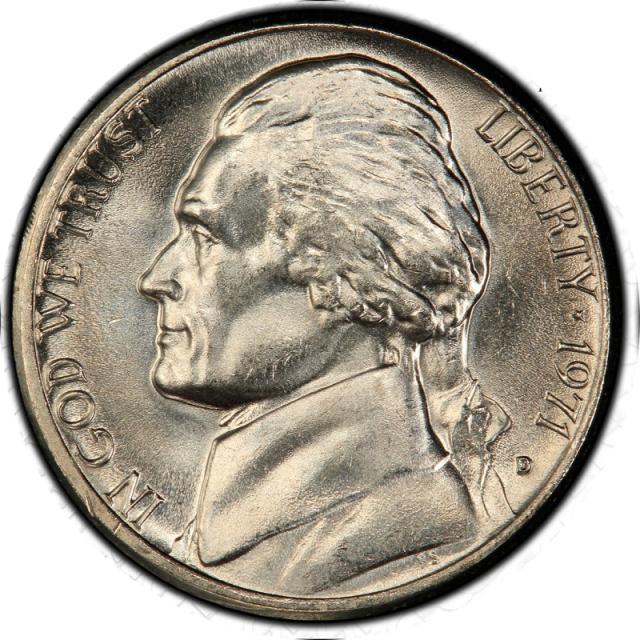 1971-D 5C Jefferson Nickel PCGS MS67FS #3350-8