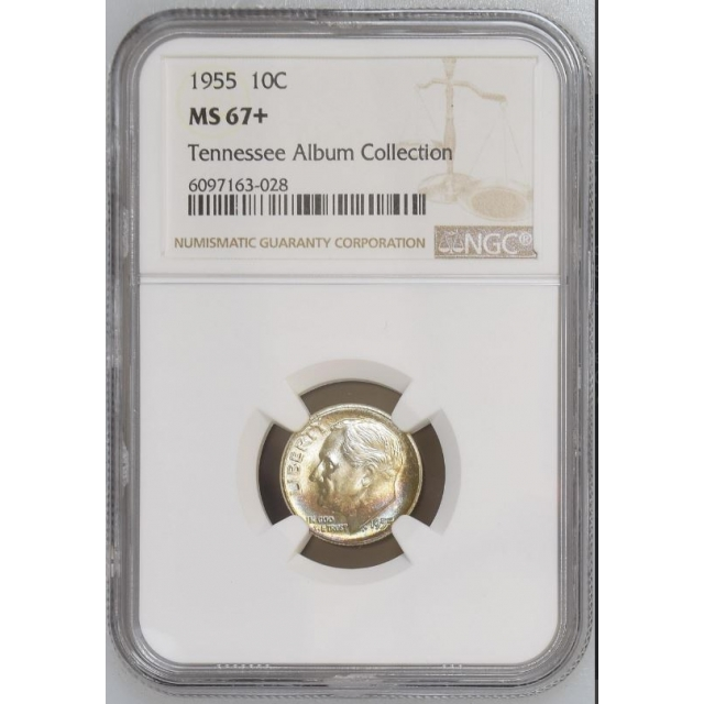 1955 Roosevelt Dime (Silver) 10C NGC MS67+ #3350-15