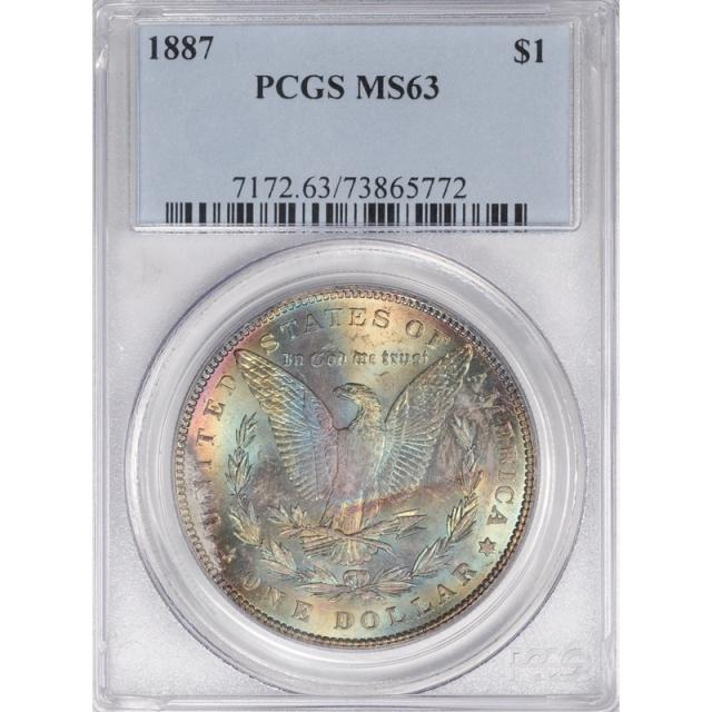 1887 $1 Morgan Dollar PCGS MS63 3307-1