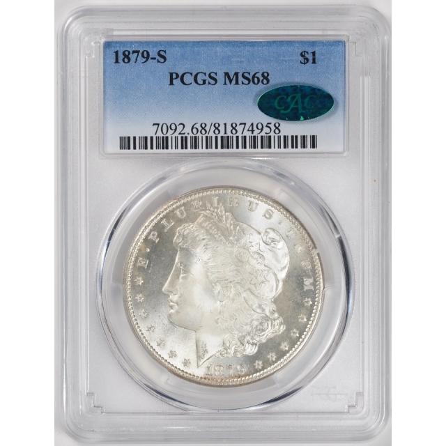 1879-S $1 Morgan Dollar PCGS MS68 (CAC) #3347-3