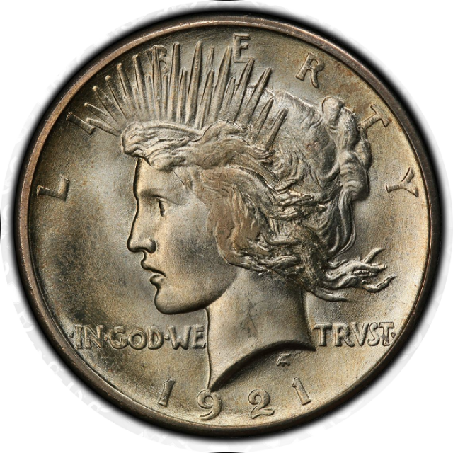 1921 $1 Peace Dollar - Type 1 High Relief PCGS MS66+ Plus  (CAC)   #3311-6 Monster 21-P