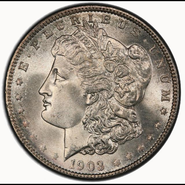 1903 $1 Morgan Dollar PCGS MS67 #3251-5 (CAC) PQ